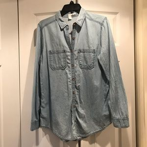 Button down jean shirt